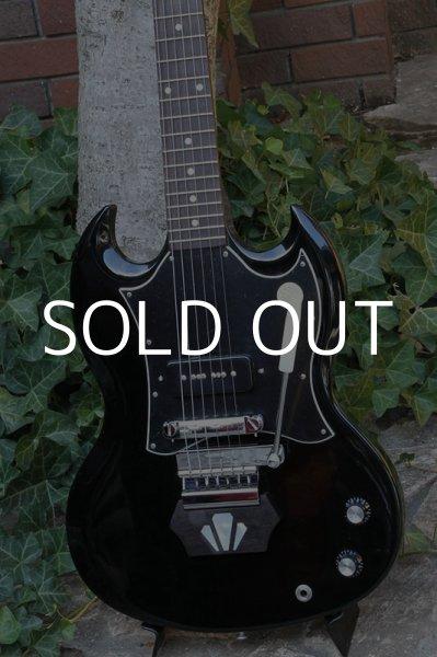 画像1: Gibson SG Jr Black with Vintage Maniacs Ebony Block (1)